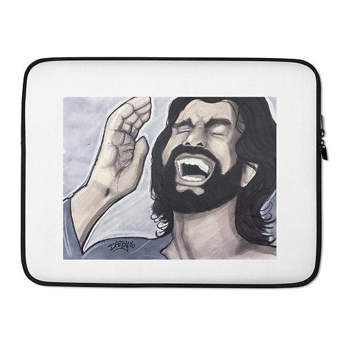 Laughing Jesus Laptop Sleeve