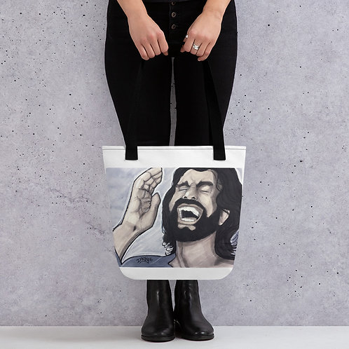 Laughing Jesus Tote bag