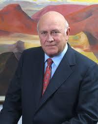 FW de Klerk the last white President of South Africa.