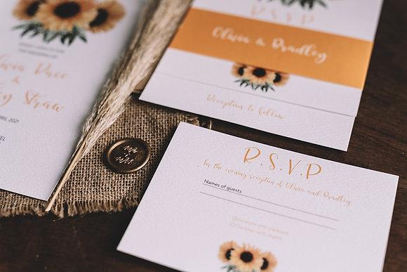 RSVP / Menu Choices Card - South Sunflower