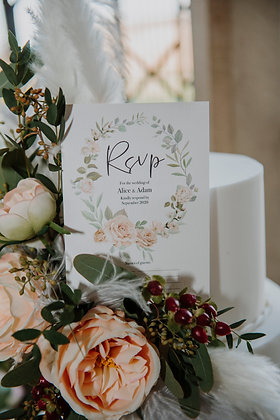 RSVP / Menu Choices Card - Olympic Sage