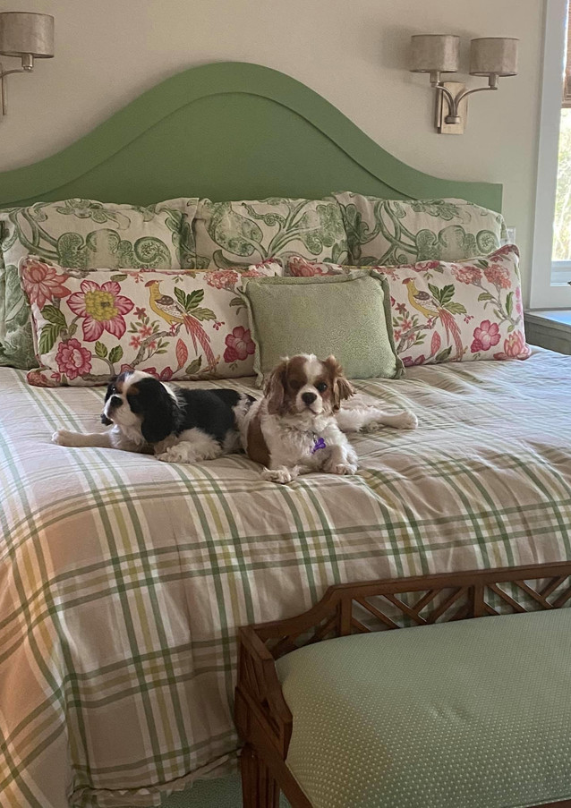 Custom Bedding and Two Adorable Models
