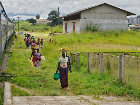 Im Zug von Sambia nach Tansania