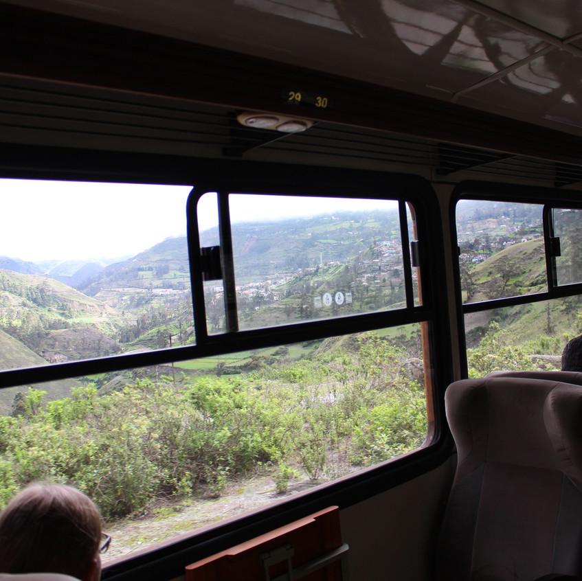 Fahrt durch herrliche Landschaft