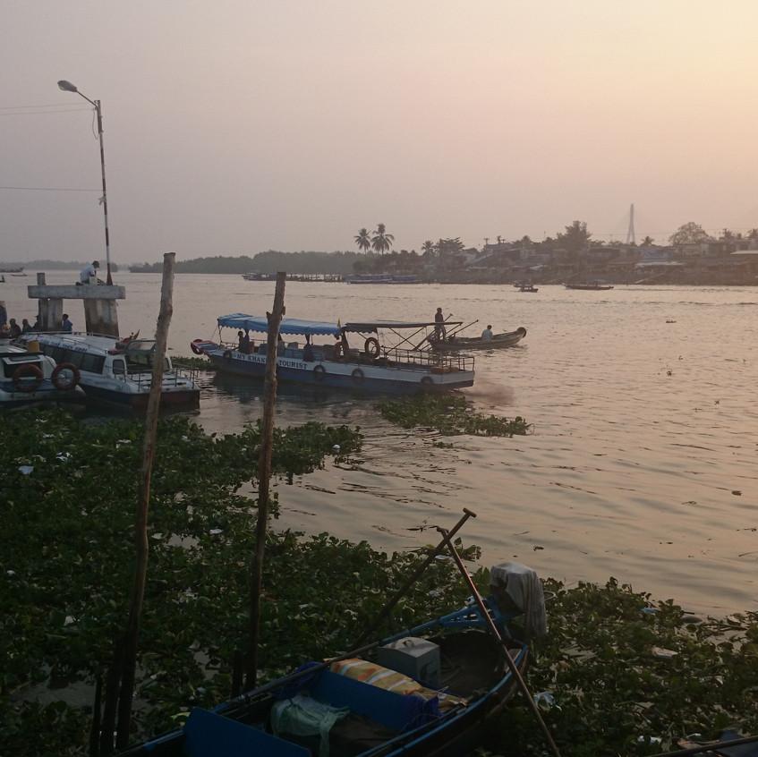 Mekong bei Sonnenaufgang