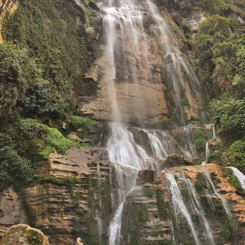Wasserfall linke Route