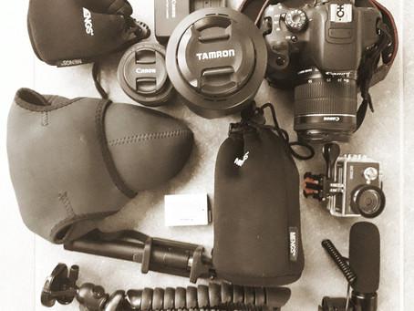 Fotoausrüstung für das Reisen