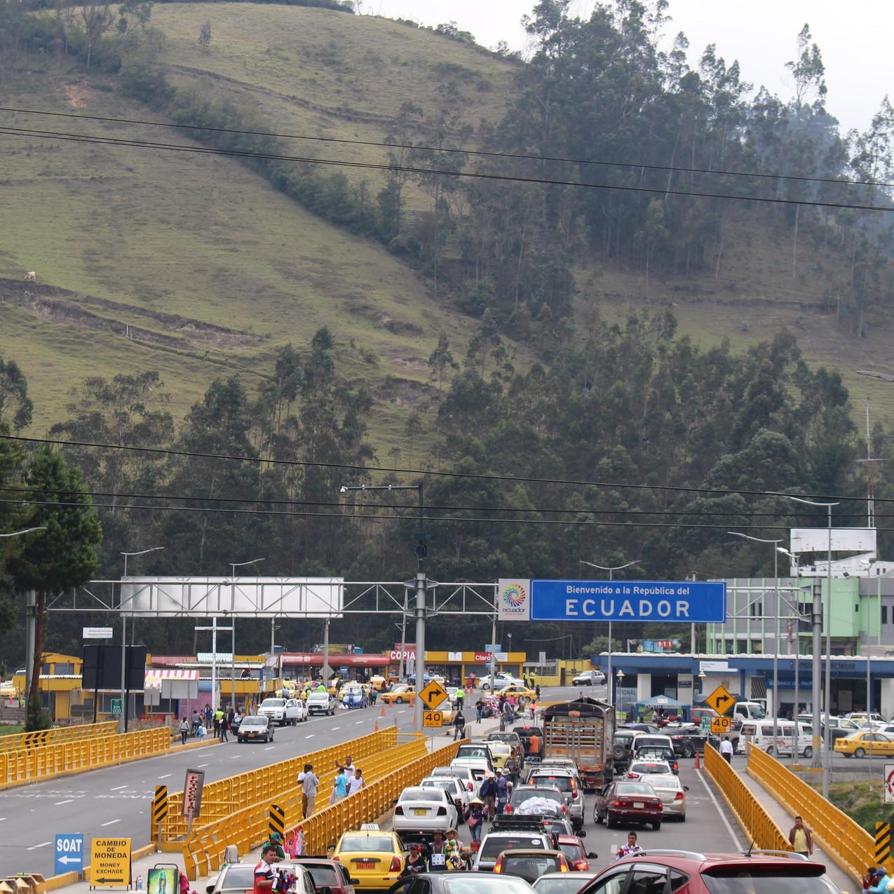 Grenzübergang Kolumbien - Ecuador