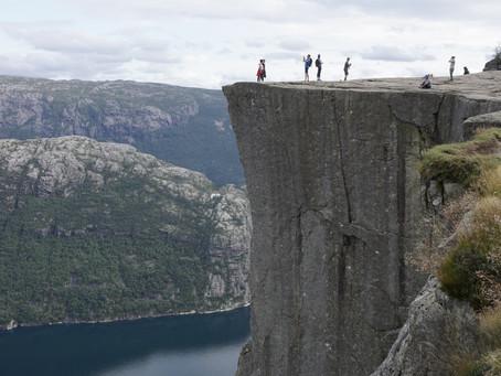 Sprachlos auf dem Preikestolen *Norwegen*