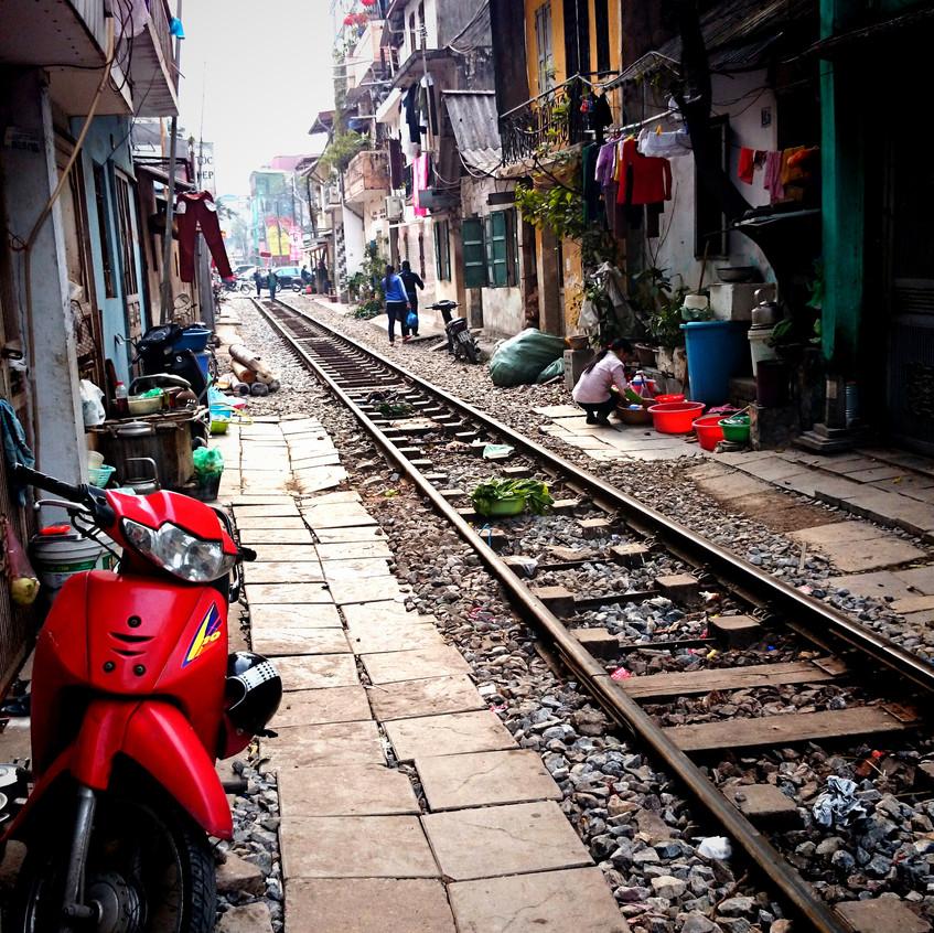 Leben entlang der Bahn...