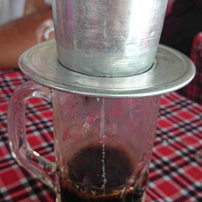 Typischer vietnamesischer Kaffee