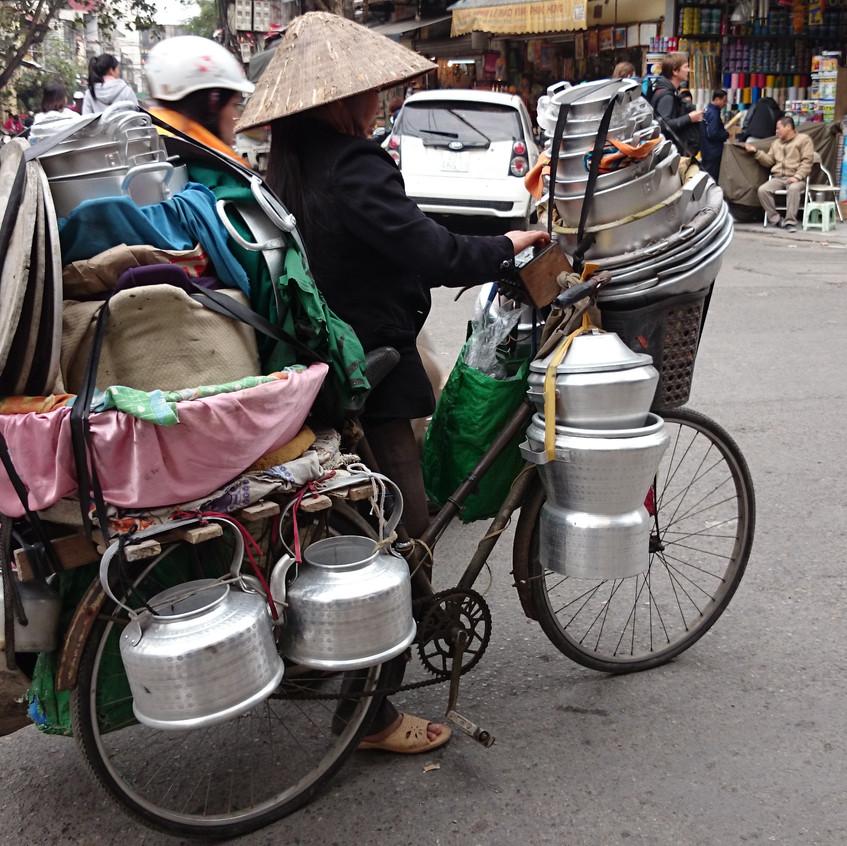 ...oder auch mobil mit dem Fahrrad