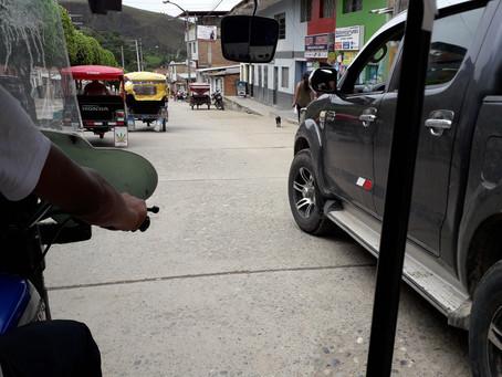 Grenzübergang 'La Balsa' von Peru nach Ecuador