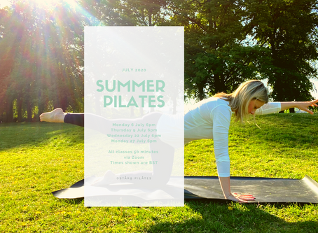 Summer pilates & making time for yourself