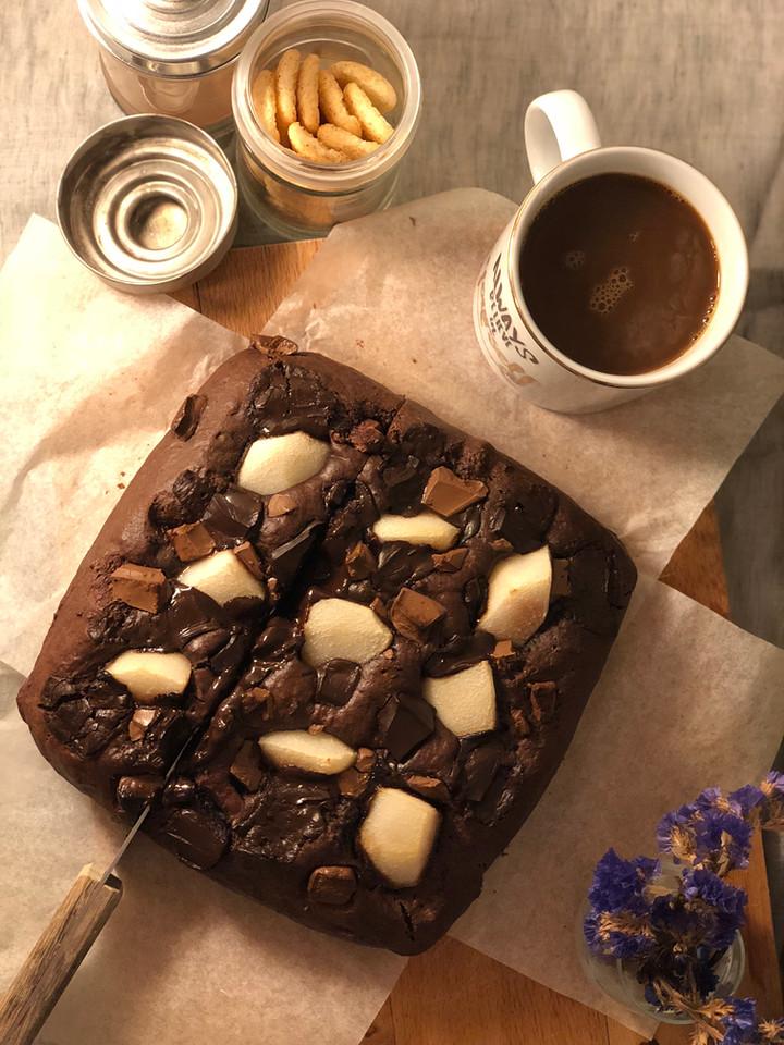 Bol Cikolatali Pose Armutlu Kek