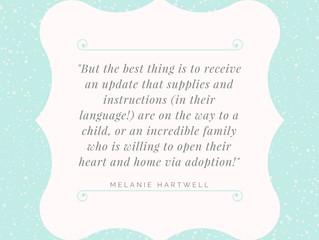 Donor Spotlight! Meet Melanie...
