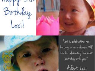 Happy 5th Birthday, Lexi