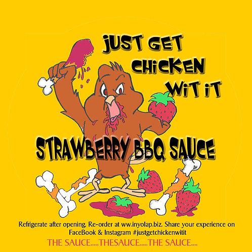32 ounces of StrawBQue Sauce