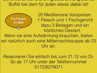 // Fam. Cerkenli lädt zum Silvester-Menü ein, jetzt reservieren//