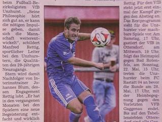 // Marcel Stern kommende Saison neuer Spielertrainer beim VfB //