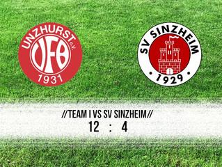 //Spielbericht Damen - Team I gegen Sinzheim//