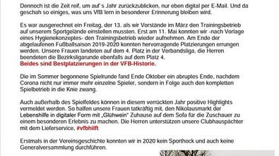 //Der VfB sagt danke und wünscht frohe Weihnachten und einen guten Rutsch//