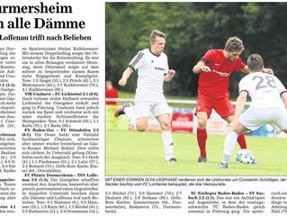 //Spielbericht Herren VfB - FC Lichtental 2:1//