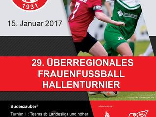 //29. Überregionales Frauenfussball-Hallenturnier//