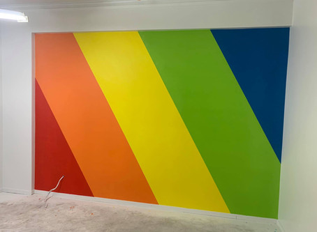 Rainbows in the foyer