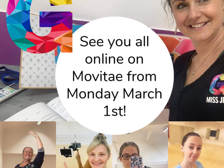 See you on Movitae during Level 3 - Geronimo classes go online from Monday 1 March