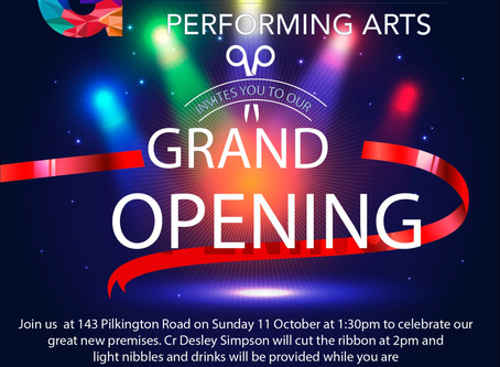 Grand opening - Sunday Oct 11 @ 1.30pm
