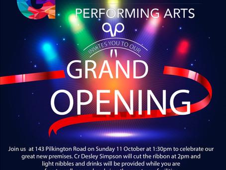 Grand opening - Sunday Oct 11 @ 1.30pm