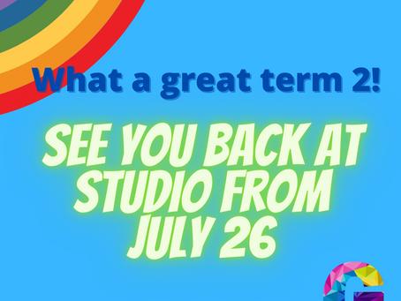 Term 3 starts July 26
