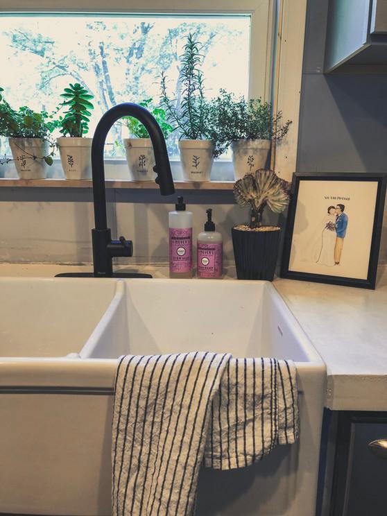 kitchen sink vibes.