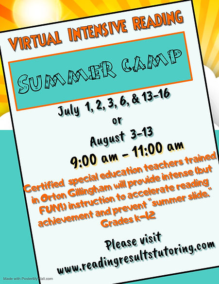 Copy of Summer Reading Camp - Made with