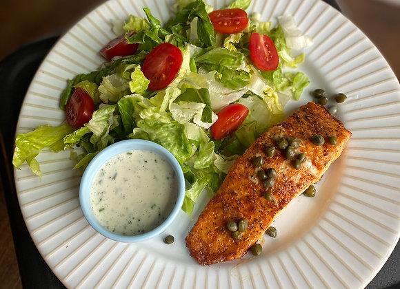 Ranch & Caper Salmon w/ Side Salad