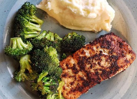 Marinated Salmon w/ Sides