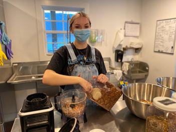 Erin making granola