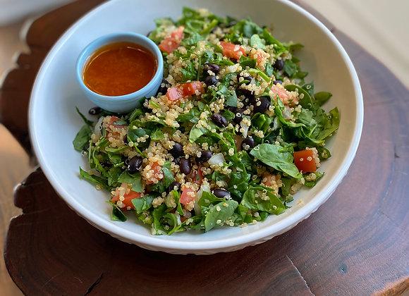 Spinach & Black Bean Quinoa Salad w/ Lime Vinaigrette