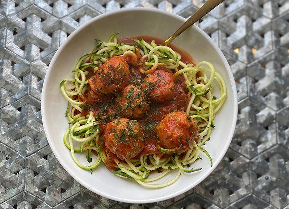 Meatball Marinara & Zoodles