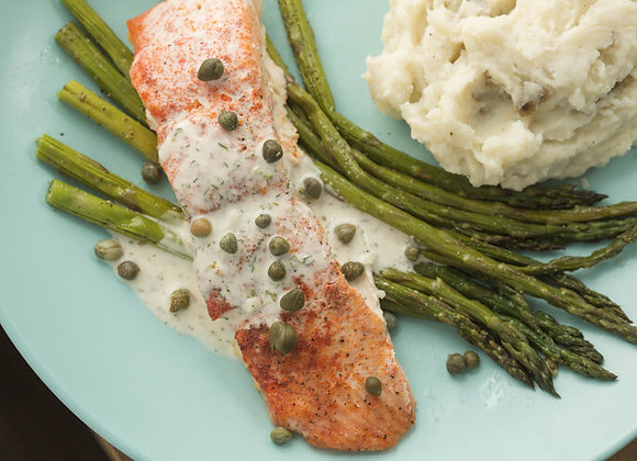 Caper Ranch Salmon & Sides