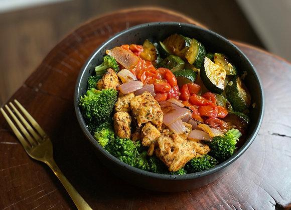 Rainbow Veggies & Chicken Bowl