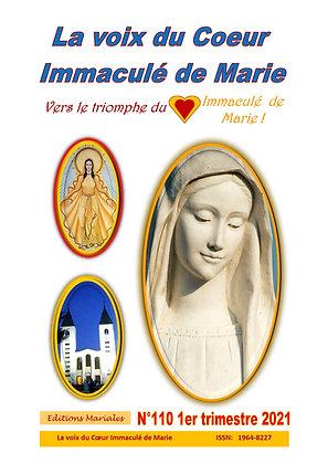 """Revue """" La voix du Coeur Immaculé de Marie"""" 1er trimestre 2021"""