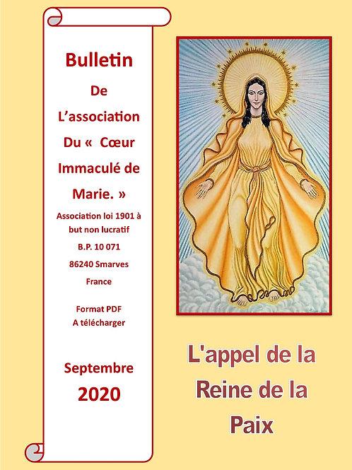 L'appel de la Reine de la Paix Septembre 2020