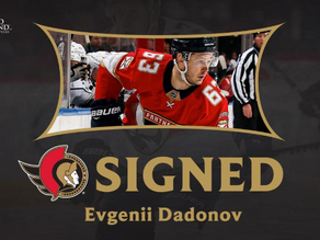 Evgenii Dadonov: The Sens FINALLY Play the UFA Market