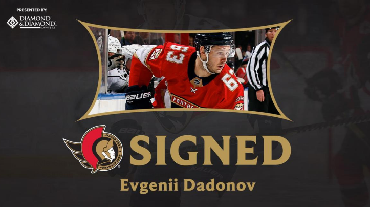 Evgenii Dadonov: The Sens FINALLY Play the UFA Market