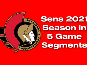 Ottawa's 2021 Season, Reviewed in 5-game Segments, Unveils Hope for the Future