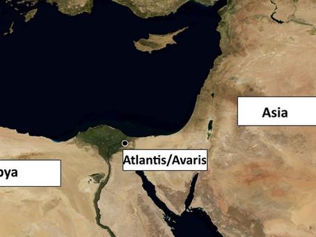 Atlantis between Asia and Libya
