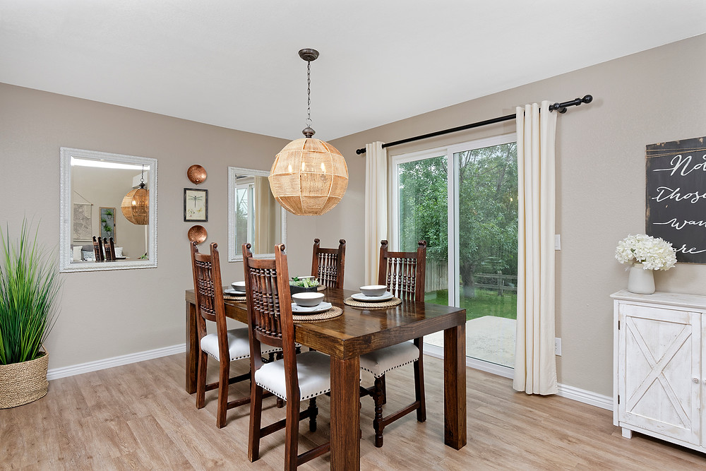 staged dining room
