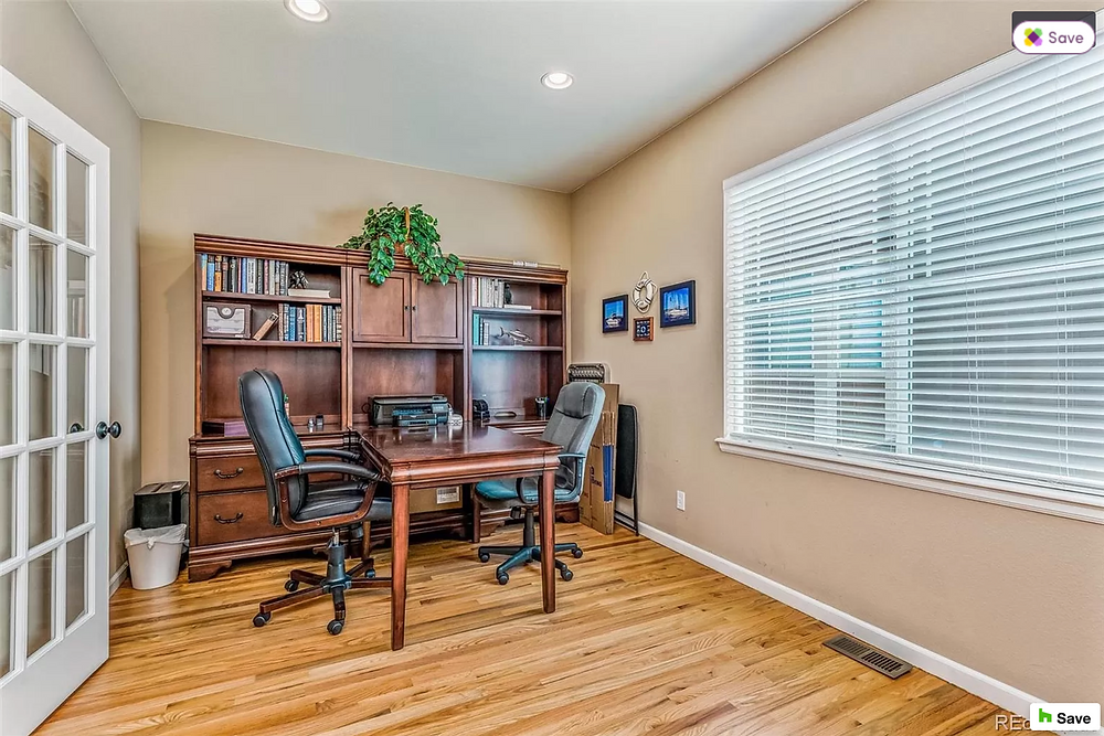 staged home office